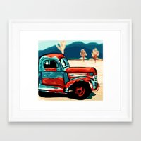 truck Framed Art Prints featuring Truck  by Relic X