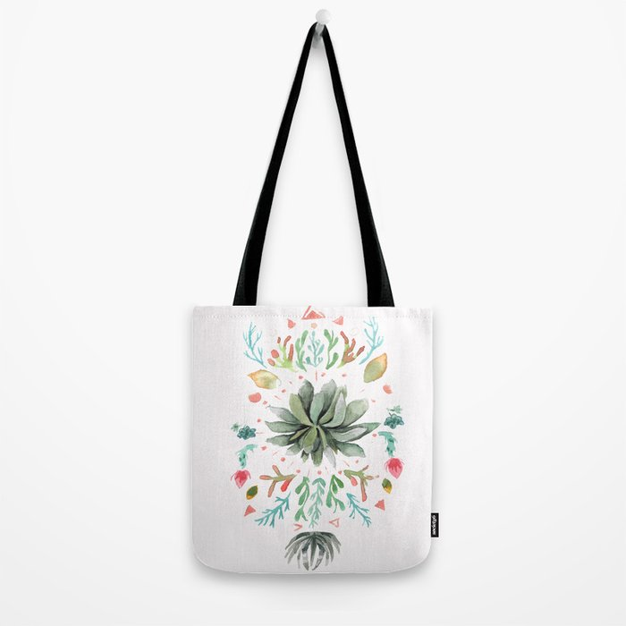 Tropical Succulents Tote Bag