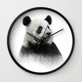 Panda contemplator Wall Clock