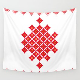 Red Diamond Wall Tapestry