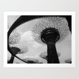 Beneath The Supertrees Art Print