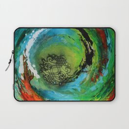 Maelstrom, captivating abstract painting Laptop Sleeve