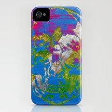 the 4i skull - mixed media on canvas iPhone (4, 4s) Slim Case