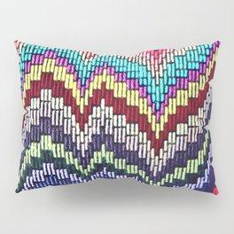 Bargello waves - peace, love and rainbows Pillow Sham
