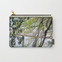 RAINY SPRING DAY AT THE DOCK IN THE WOODS Carry-All Pouch