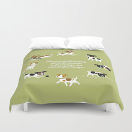 Farmdogs are wonderful things Duvet Cover