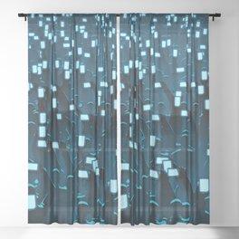 Celebrity BLUE Sheer Curtain
