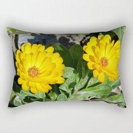 Two Marigolds Rectangular Pillow