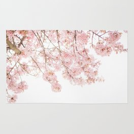 Pink Blooming Cherry Trees Rug