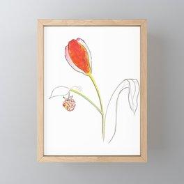 naked paring Framed Mini Art Print
