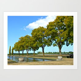 Hawke's Bay Winery (New Zealand Collection) Art Print
