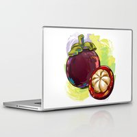 vietnam Laptop & iPad Skins featuring Vietnam Mangosteen by Vietnam T-shirt Project