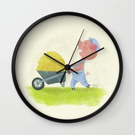 The First Little Pig Wall Clock