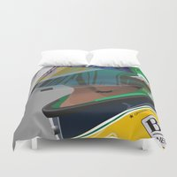 senna Duvet Covers featuring Senna Meditation by Borja Sanz