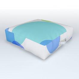 Blue Circles Outdoor Floor Cushion
