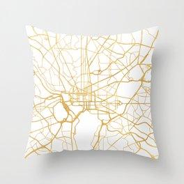 WASHINGTON D.C. DISTRICT OF COLUMBIA CITY STREET MAP ART Throw Pillow