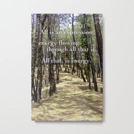 Dharmalaya Woods Metal Print