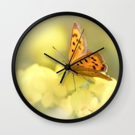 Precious Summer Gold Wall Clock