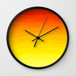 Red to Yellow Sunset Wall Clock
