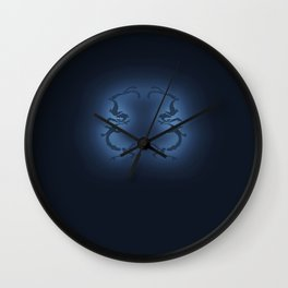 Koi Crest No Moon Light Wall Clock