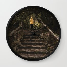 Magical forest - nature, scotland, isle of skye, garden, person, landscape Wall Clock