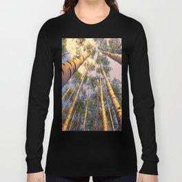 Aspen Trees Against Sky Long Sleeve T-shirt