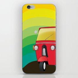 Tuk Tuk: Ride Waves of Color iPhone Skin