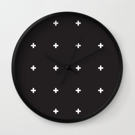 SWISS CROSSES Wall Clock
