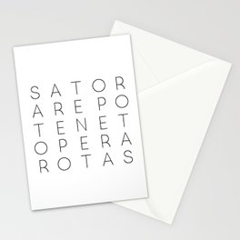 SATOR Square Typography Stationery Cards