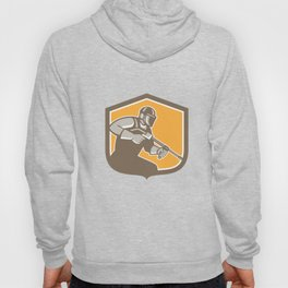 Pressure Washer Cleaner Worker Shield Retro Hoody