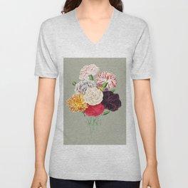 Colorful Flower Bouquet Unisex V-Neck