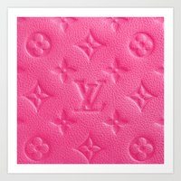 lv Art Prints featuring Pink LV by I Love Decor