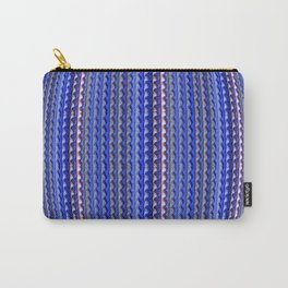 Mega Bright Indigo Lavender Blue Psychedelic Pattern Carry-All Pouch