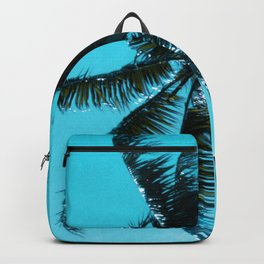 Palm Tree Upshot In Turquoise Sky Art Photo Backpack