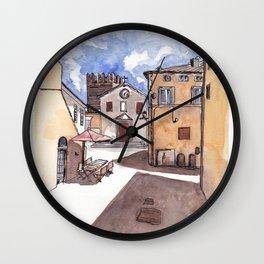 Piazza di Calcata, Italia Wall Clock