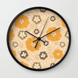 Sweet Daisy Gems- Golden Yellow Wall Clock