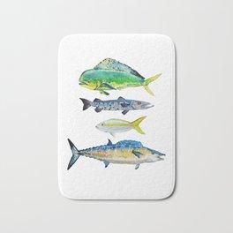 Caribbean Fish Bath Mat