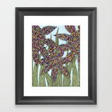Among the Flowers Framed Art Print
