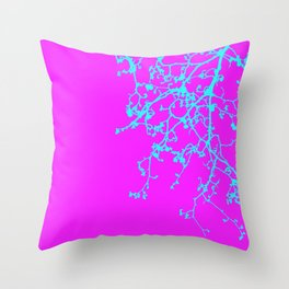 corrected orchid Throw Pillow