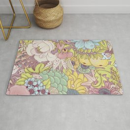 the wild side - summer tones Rug