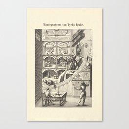 Mauerquadrant von Tycho Brahe Canvas Print