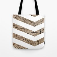 tree rings Tote Bags featuring Tree Rings by Ty Foley