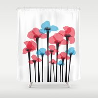 tulip Shower Curtains featuring Tulip by GabrieleCigna