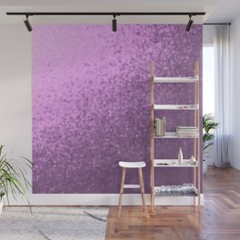 lilac collage of many small checks for a festive modern pattern Wall Mural