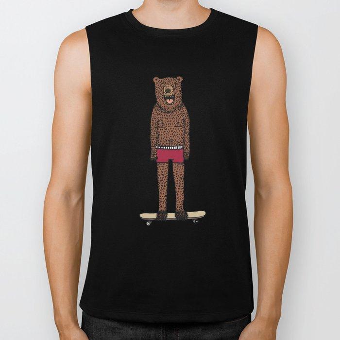 Bear + Skateboard Biker Tank