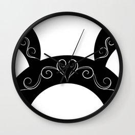 Swirls Contrast Wall Clock
