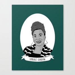 Kimberlé Crenshaw Illustrated Portrait Canvas Print