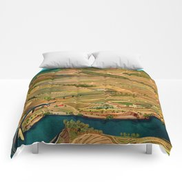 Douro Valley Portugal Comforters