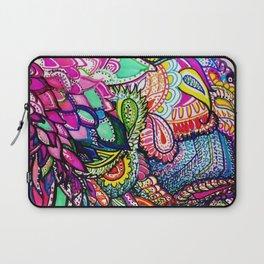 Colorful Hummingbird in Flight Psychedelic Zentangle Watercolor Laptop Sleeve