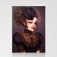 the vampire diaries Stationery Cards featuring Vampire by Christine Alcouffe